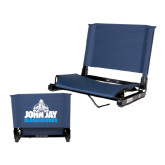 Stadium Chair Navy-John Jay Bloodhounds