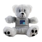 Plush Big Paw 8 1/2 inch White Bear w/Grey Shirt-Official Logo