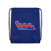 Community College Royal Drawstring Backpack-The Wave