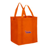 Non Woven Orange Grocery Tote-The Wave