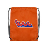 Community College Orange Drawstring Backpack-The Wave