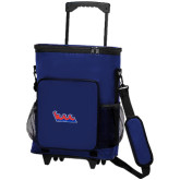 Community College 30 Can Blue Rolling Cooler Bag-The Wave