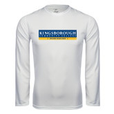 Community College Performance White Longsleeve Shirt-Official Logo