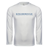 Community College Performance White Longsleeve Shirt-Wordmark