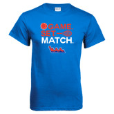 Community College Royal T Shirt-Tennis Game Set Match