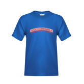 Community College Youth Royal T Shirt-Arched Kingsborough