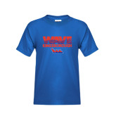Community College Youth Royal T Shirt-Wave