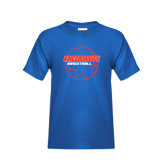 Community College Youth Royal T Shirt-BasketBall School in Ball