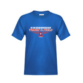 Community College Youth Royal T Shirt-Track and Field Front View Shoe