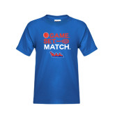 Community College Youth Royal T Shirt-Tennis Game Set Match