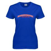Community College Ladies Royal T Shirt-Tennis