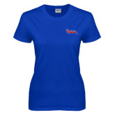 Community College Ladies Royal T Shirt-The Wave
