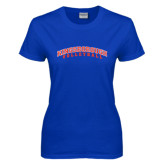Community College Ladies Royal T Shirt-Volleyball