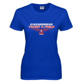Community College Ladies Royal T Shirt-Track and Field Front View Shoe
