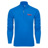 Community College Syntrel Royal Blue Interlock 1/4 Zip-The Wave