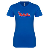 Next Level Ladies SoftStyle Junior Fitted Royal Tee-The Wave