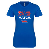 Next Level Ladies SoftStyle Junior Fitted Royal Tee-Tennis Game Set Match