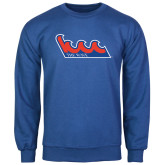 Community College Royal Fleece Crew-The Wave