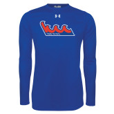Under Armour Royal Long Sleeve Tech Tee-The Wave