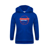 Community College Youth Royal Fleece Hoodie-BasketBall School in Ball