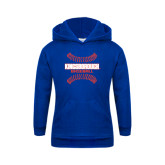 Community College Youth Royal Fleece Hoodie-Baseball Sideways Seams