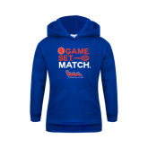Community College Youth Royal Fleece Hoodie-Tennis Game Set Match