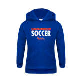 Community College Youth Royal Fleece Hoodie-Soccer Stacked