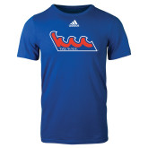 Community College Adidas Royal Logo T Shirt-The Wave