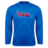Community College Performance Royal Longsleeve Shirt-The Wave
