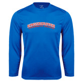 Community College Performance Royal Longsleeve Shirt-Arched Kingsborough