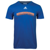 Community College Adidas Climalite Royal Ultimate Performance Tee-Arched Kingsborough