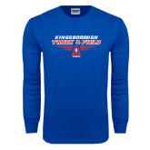 Royal Long Sleeve T Shirt-Track and Field Front View Shoe