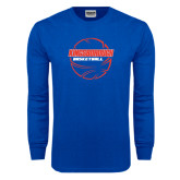 Royal Long Sleeve T Shirt-BasketBall School in Ball