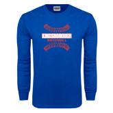 Royal Long Sleeve T Shirt-Baseball Sideways Seams