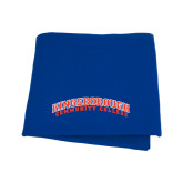 Community College Royal Sweatshirt Blanket-Arched Kingsborough
