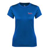Ladies Syntrel Performance Royal Tee-The Wave
