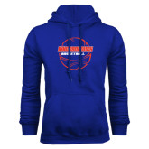 Community College Royal Fleece Hoodie-BasketBall School in Ball