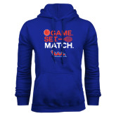 Community College Royal Fleece Hoodie-Tennis Game Set Match