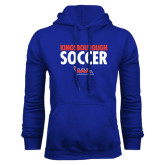 Community College Royal Fleece Hoodie-Soccer Stacked