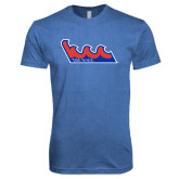 Next Level Vintage Royal Tri Blend Crew-The Wave