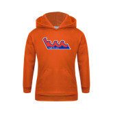 Community College Youth Orange Fleece Hoodie-The Wave