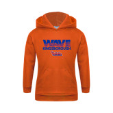 Community College Youth Orange Fleece Hoodie-Wave
