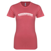 Next Level Ladies SoftStyle Junior Fitted Pink Tee-Arched Kingsborough