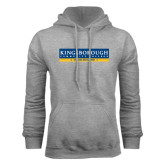 Community College Grey Fleece Hoodie-Official Logo