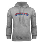 Community College Grey Fleece Hoodie-Arched Kingsborough