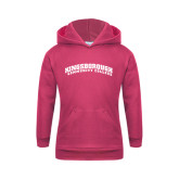 Community College Youth Raspberry Fleece Hoodie-Arched Kingsborough