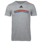 Adidas Sport Grey Logo T Shirt-Arched Kingsborough