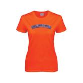Ladies Orange T Shirt-Arched Kingsborough