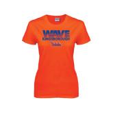 Ladies Orange T Shirt-Wave
