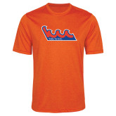 Performance Orange Heather Contender Tee-The Wave